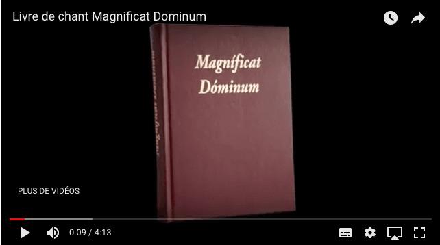 Présentation vidéo du livre de chant Magnificat Dominum